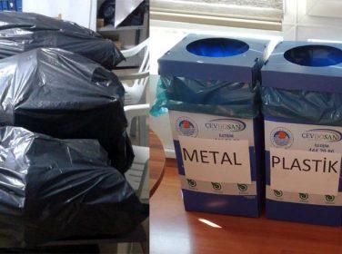 Şirketimizde 100 çöp sepetini kaldırdık
